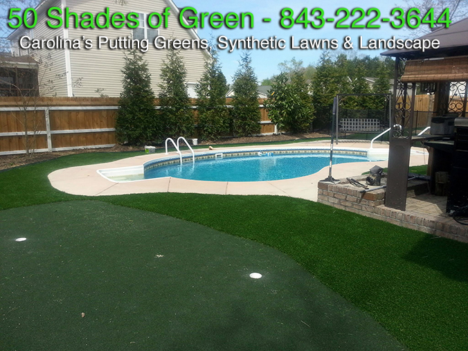 Synthetic Lawn Poolside Putting Gree