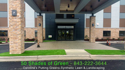 Commercial Synthetic Lawn Landscape