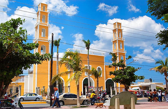 Cathedral in San Miguel Cozumel