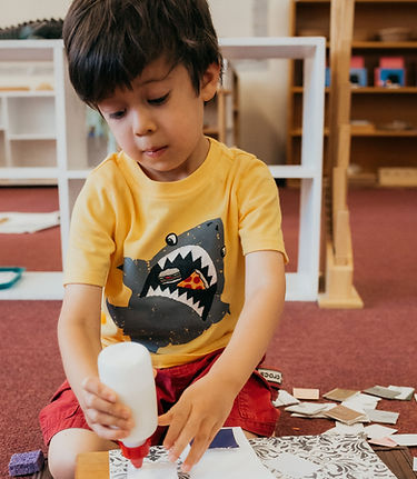 Kindergarten work Montessori
