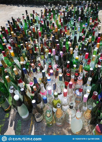 empty bottles after a party