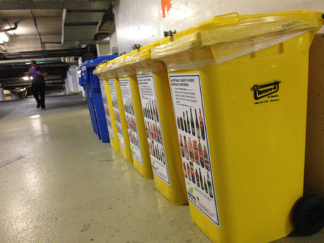 The yellow is the refundable recycling