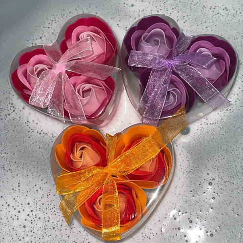 Rose Soap Flowers (3 included-1 box)