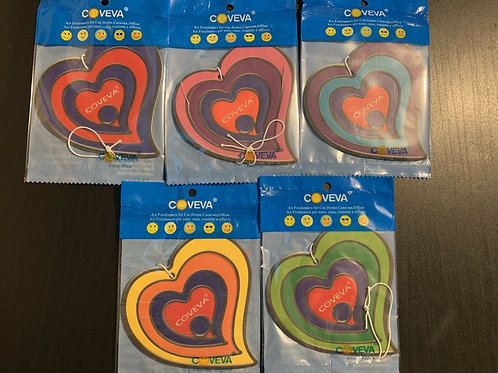 3D Hanging Heart Car Air Freshener