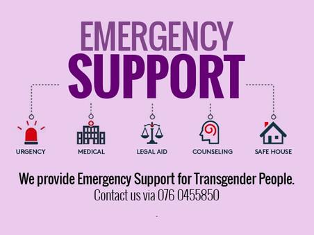 Emergency Support Fund for Transgender People in Sri Lanka- 0760455850