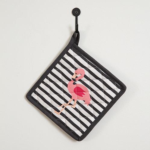 Flamingo Striped Pot Holder