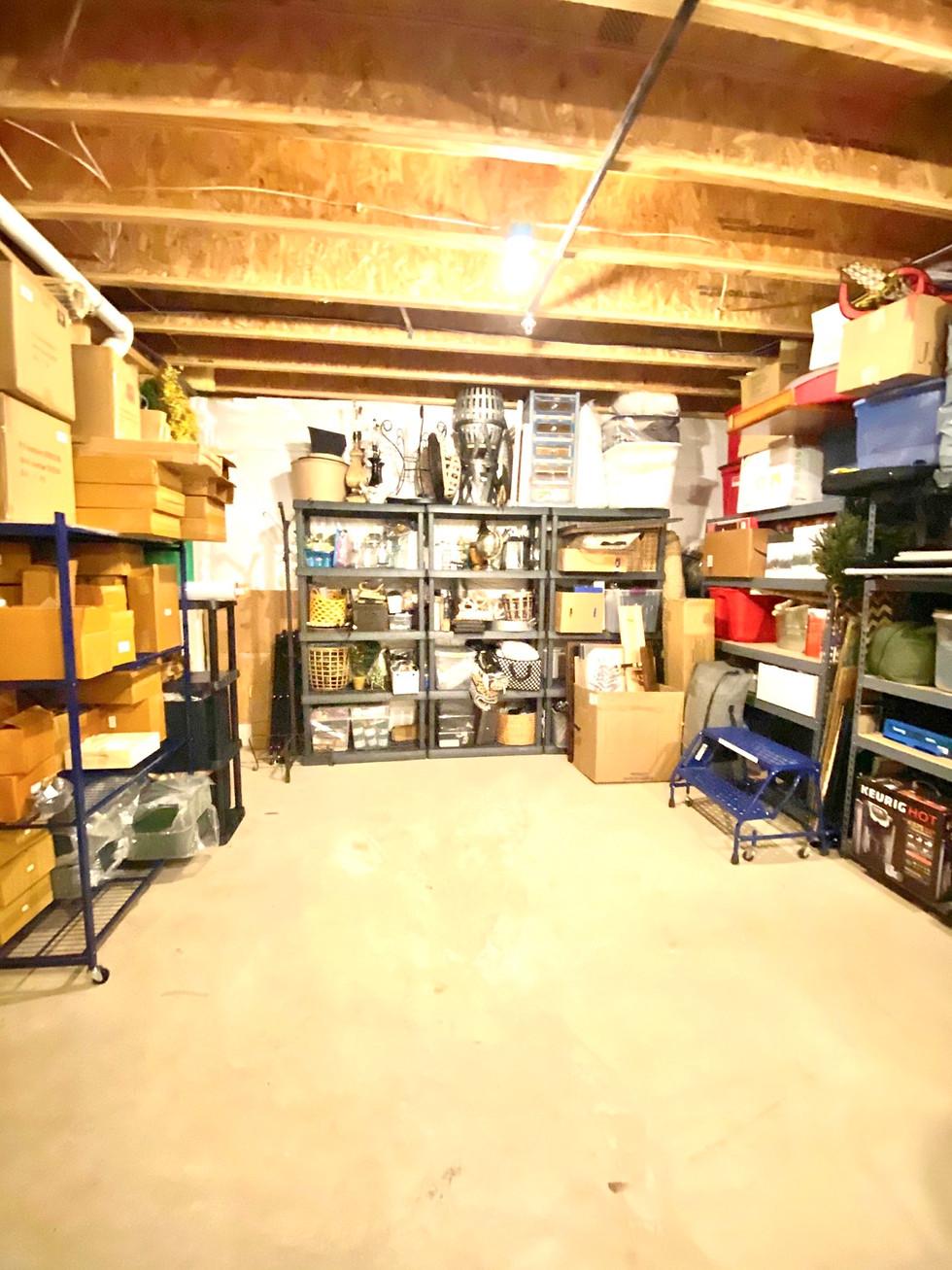 Basement Organizing
