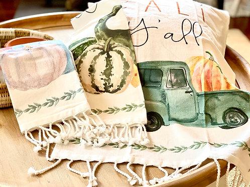 Fall Tassel Towels (Setof3)