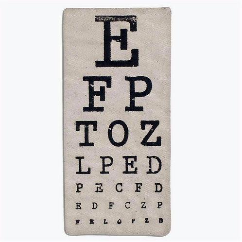 Eye Chart Glasses Case