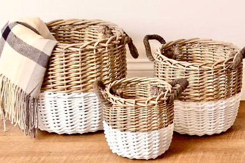 2 Tone Basket Set (SET of 3)