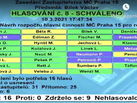 Zachránili jsme rozpočet Prahy 15