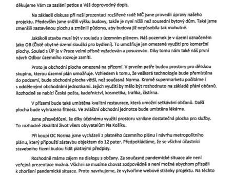 Nová podoba developerské výstavby na Košíku