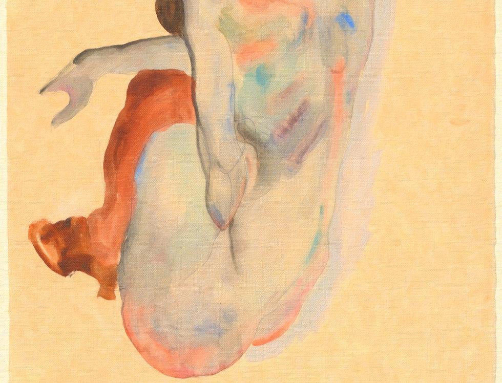 Schiele Digital oil on canvas 20 x 30
