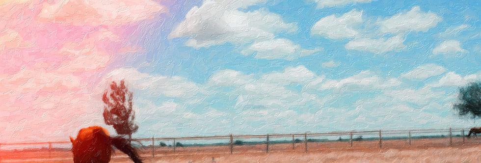 Abilene Horse impasto style  20 x 30