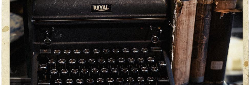 Cape Cod typewriter 20 x 30 print