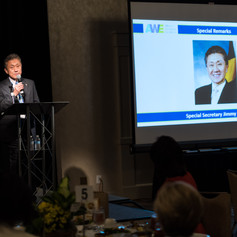 Special Secretary Jimmy Rhee delivered speacial remarks at the 2018 AWE Awards Luncheon