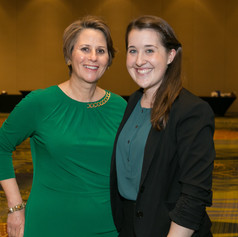 Ms. Michele Norris and Ms. Jennifer Ashley at the 2015 AWE Awards Luncheon