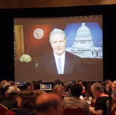 Congressman Chris Van Hollen greets guest virtually and congrtulates all 2013 award winners