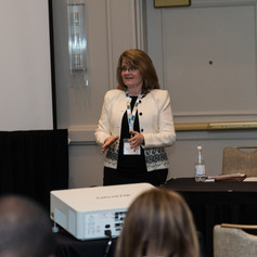 Judy Ashley hosted the first educational session, Diversity's Creative Outcomes