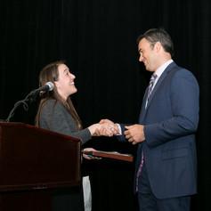 Jennifer Ashley introduces AWE's 2016 event emcee, Mr. Doug Kammerer