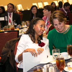 Ms. Stokes and Ms. Norris at the 2015 AWE Awards Luncheon