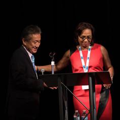 Special Secretary Jimmy Rhee and Veronica Johnson