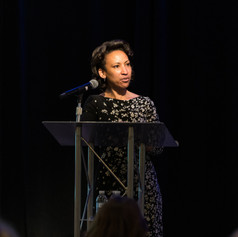 Jennifer Hester, VP of Human Resources at The Emmes Company, LLC was the guest presenter helping event emcee to announce the 2019 AWE award winners.