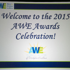 Welcome to the 2015 AWE Awards Celebration!