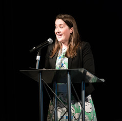 Executive Director, Jennifer Ashley delivered closing remarks at the 2018 AWE Awards Luncheon