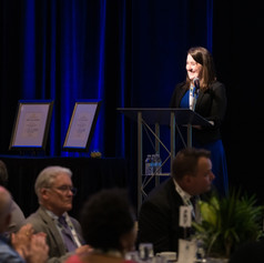 Executive Director, Jennifer Ashley, welcome guests of the 2019 AWE Awards Luncheon!