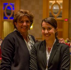 Evelyne Steward, Founder of AWE with Jennifer Ashley, AWE Executive Director