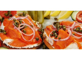 Open-Face Smoked Salmon Bagel