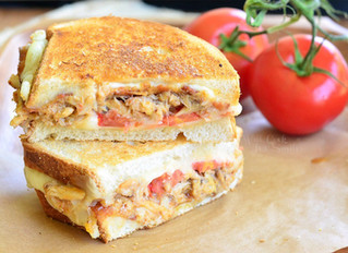 Tomato Bacon and Crab Grilled Cheese
