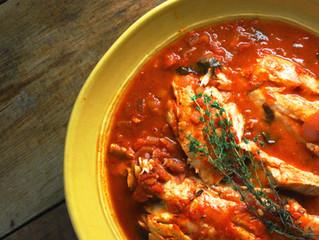Chesapeake Bay Rockfish Stew