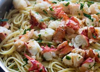 Easy Lobster Scampi with Linguine
