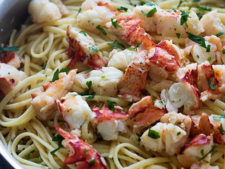 Easy Lobster Scampi with Linguine