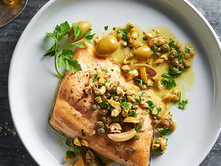 Arctic Char with Green Olive and Lemon Dressing