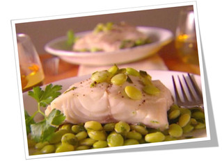 Roasted Cod with Lima Beans