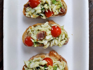 Avocado Crab Crostini