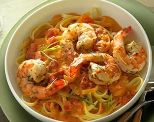 Zesty Garlic Shrimp Pasta