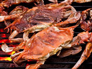 Grilled Softshell Crabs