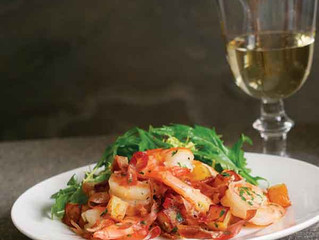 Shrimp Roasted with Potatoes & Prosciutto