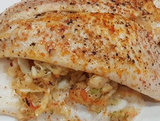 Flounder Stuffed with Shrimp and Crabmeat