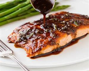 Balsamic Rosemary Glaze Salmon