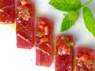 Tuna Crudo with Pickled Watermelon