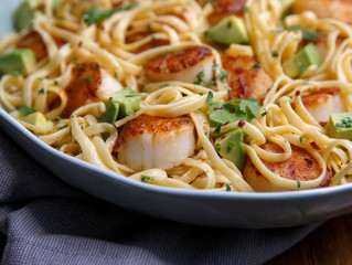 Scallop and Tequila Fettuccine