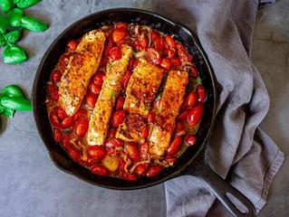 Tuscan Tomato Garlic Salmon