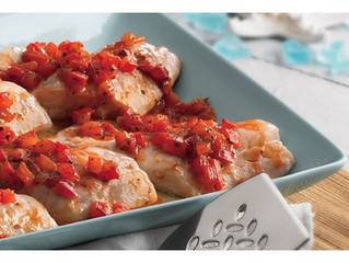 Baked Rockfish with Cajun Tomato Relish