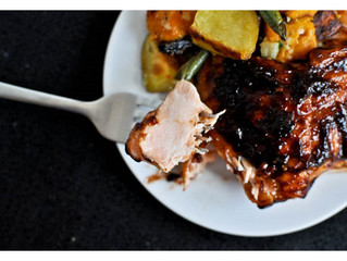 Grilled Blueberry BBQ Salmon