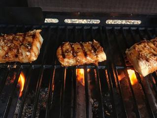 Barbeque Halibut Steaks